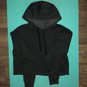H&M Dark gray cropped hoodie